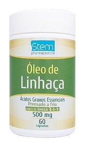 Óleo de Linhaça 500mg - 60 cápsulas - Stem Pharmaceutical