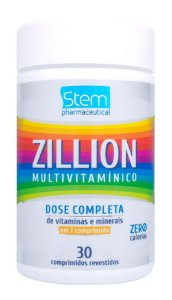 Zillion Multivitamínico - 30 comprimidos - Stem Pharmaceutical
