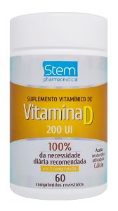 Vitamina D 200UI - 60 comprimidos - Stem Pharmaceutical
