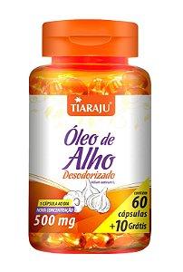 Óleo de Alho Desodorizado - 60+10 cápsulas - Tiaraju