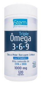 Triple Ômega 3-6-9 - 120 cápsulas - Stem Pharmaceutical