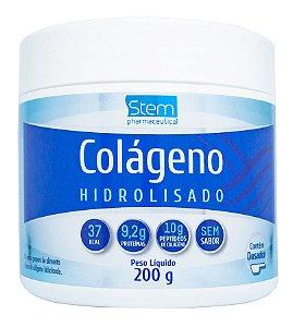 Colágeno Hidrolisado - 200g - Sem sabor - Stem Pharmaceutical