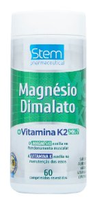 Magnésio Dimalato com Vitamina K2 MK-7 - 60 comprimidos - Stem Pharmaceutical
