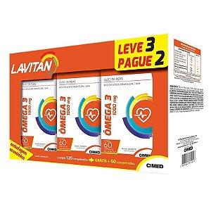 Kit Ômega 3 - 3 frascos de 60 cápsulas - Lavitan Vitaminas