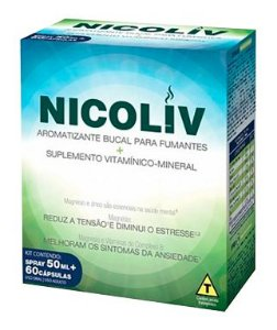 Nicoliv Kit Anti Tabagismo - 60 cápsulas + Spray 50ml - Cimed