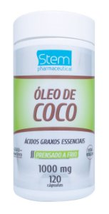 Óleo de Coco - 120 cápsulas - Stem Pharmaceutical