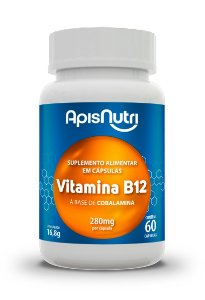 Vitamina B12 - 60 cápsulas - Apisnutri