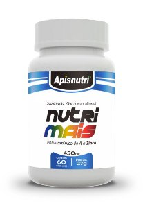 Nutri Mais Polivitamínico - 60 cápsulas - Apisnutri