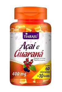 Açaí e Guaraná - 60+10 cápsulas - Tiaraju