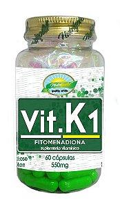 Vit K1 Fitomenadiona - 60 cápsulas - Nutrigold