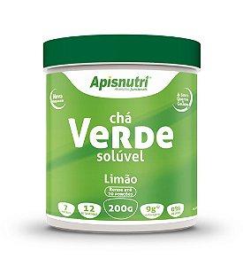 Chá Verde Solúvel - 200g - Limão - Apisnutri