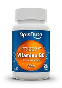 Vitamina B6 Piridoxina - 60 cápsulas - Apisnutri