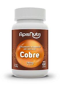 Cobre - 60 cápsulas - Apisnutri
