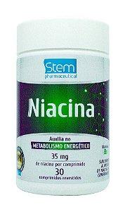 Niacina - 30 comprimidos - Stem Pharmaceutical