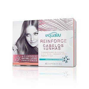 Reinforce Cabelos & Unhas - 30 cápsulas - Equaliv