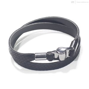 Pulseira Black Leather