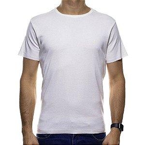 Camiseta Malha Sergio K Branca com Símbolo Branco