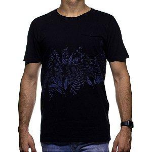 Camiseta de Malha Urbô Floral com Bolso