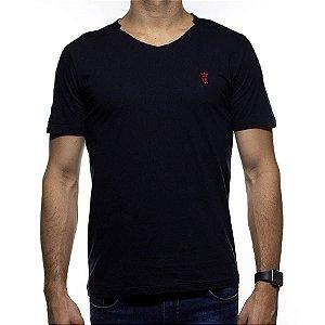 Camiseta Malha Sergio K Gola V Preta