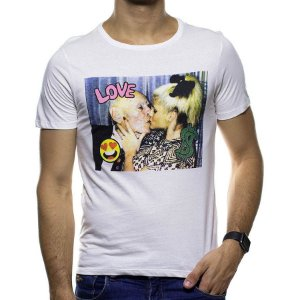 Camiseta Malha Sergio K N Smith Branca