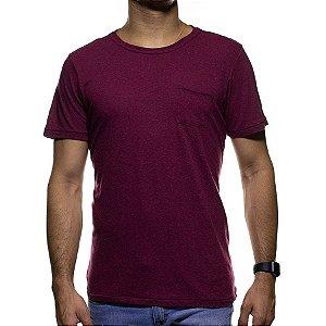 Camiseta de Malha Urbô Vermelha Basica com Bolso