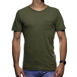 Camiseta de Malha Urbô Verde Basica com Bolso