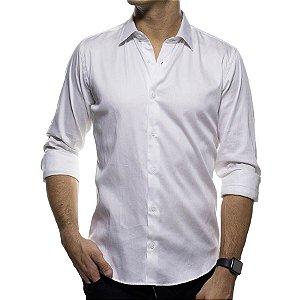 Camisa Social Sergio K Branca Lisa Classic