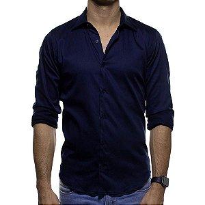 Camisa Social Sergio K Azul Escuro Classic