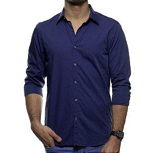 Camisa Social Richards Azul Marinho Casual Fit