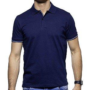 Camisa Polo Richards Marinho com Detalhe na Gola