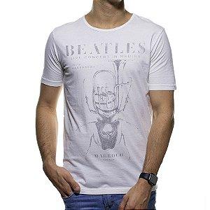 Camiseta Malha King e Joe Branca Beatles