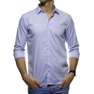 Camisa Social King e Joe Poa Azul Claro Regular Fit
