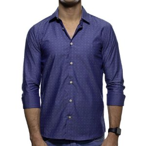 Camisa Social King e Joe Poa Azul Regular Fit