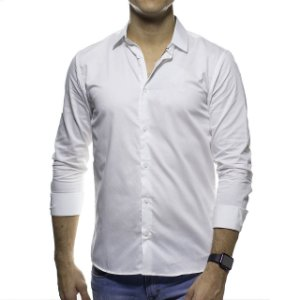 Camisa Social King e Joe Lisa Branca Regular Fit