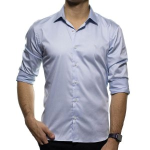 Camisa Social VR Cinza Slim Fit