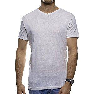 Camiseta de Malha Foxton Branca Gola V