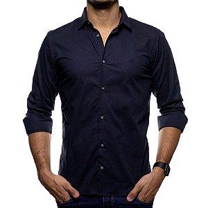 Camisa Social King e Joe Preta Lisa Regular Fit