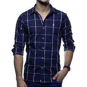 Camisa Social Sergio K Xadrez Regular Fit