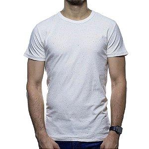 Camiseta de Malha Foxton Bege Detalhada
