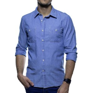Camisa Social Richards Jeans Delave Slim Fit