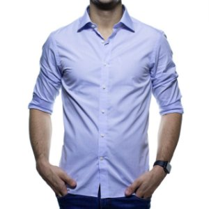 Camisa Social Richards Azul Claro Casual Fit