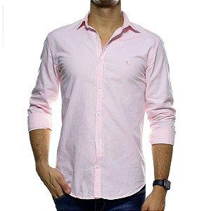 Camisa Social Foxton Rosa Casual Fit