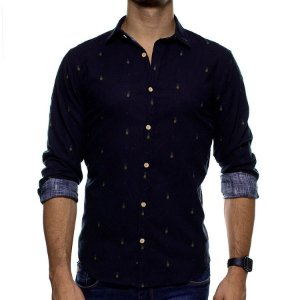 Camisa Social Foxton Geometria Tropical Casual Fit