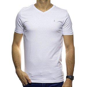 Camiseta Malha King e Joe Branca Gola V