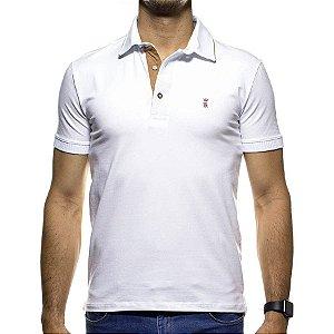 Camisa Polo Sergio K Branca com Detalhe na Gola