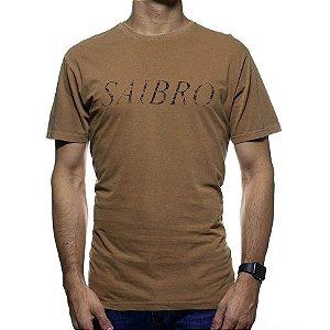 Camiseta de Malha Foxton Marrom Saibro