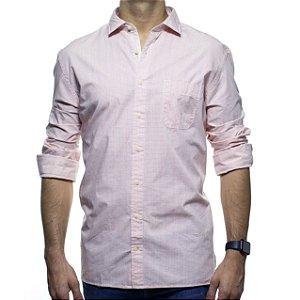 Camisa Social Richards Com Bolso Xadrez Vermelho Regular Fit