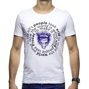 Camiseta Malha Sergio K Acid Monkey Branca