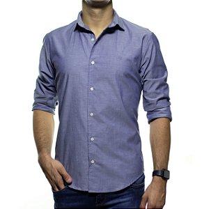 Camisa Social Montrê Azul