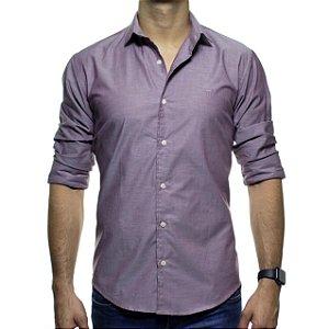 Camisa Social Montrê Vinho